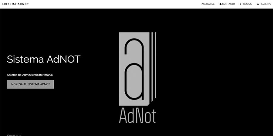 Desarrollo Web: Sistema AdNOT