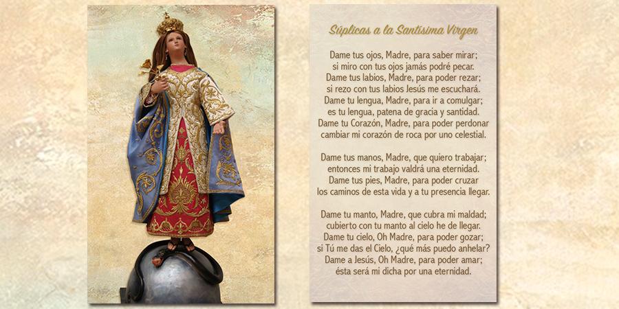 Retoque: Súplicas a la Santísima Virgen